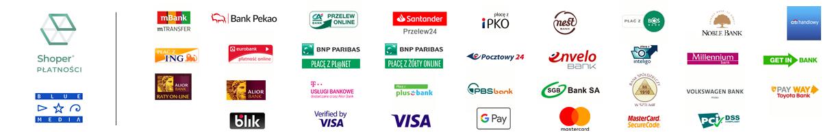rozliczenia płatności online przeprowadzane są przez Blue Media S.A. (bluemedia.pl)