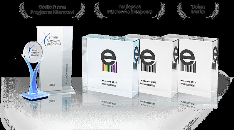 Nagrody dla najlepszej platformy sklepowej Shoper