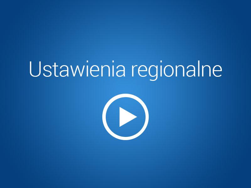 Ustawienia regionalne